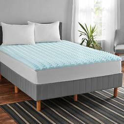 1.5 Inch Memory Foam Mattress Topper Bed Cover Size Multiple