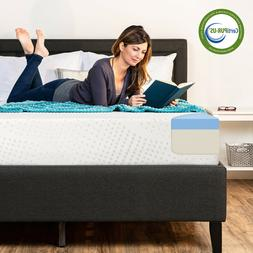 10-Inch Dual Layered Mattress Cooling Gel Memory Foam CertiP
