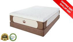 "Dynasty Mattress 12"" Cool-Breeze Gel Memory Foam-KING-CAL-QU"