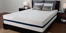 "Sealy 12"" 3 lb Density Memory Foam Bed Mattress w/ Removable"