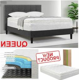 12 Inch Queen Size Mattress Zinus Green Tea Memory Foam Slum