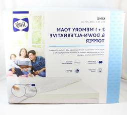 2 1 memory foam and down alternative