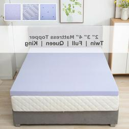 2/3/4'' Twin Full Queen King Comfort Gel Memory Foam Mattres