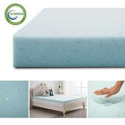 2.5 Inch Gel Blue Memory Foam Mattress Topper Ventilated Dot