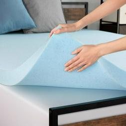 "3"" 4"" Inch Cooling Gel Memory Foam Mattress Topper - Twin Fu"