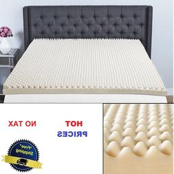 3 in. Memory Foam Mattress Topper Sleep Convoluted Pad Bed C