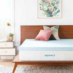 LINENSPA 3 Inch Gel Infused Memory Foam Mattress Topper - Fu