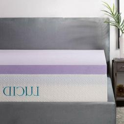 3 inch lavender infused memory foam mattress