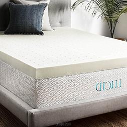 4 Memory Foam Mattress Topper by LUCID Queen
