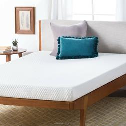 Linenspa 5 inch Gel Memory Foam Mattress - Medium Firm - Gre