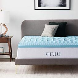 LUCID LU20QQ30ZNGT 2 Inch 5 Zone Gel Memory Foam Mattress To