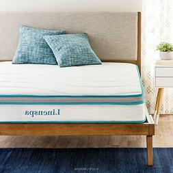 Linenspa 8 Inch Mattress Memory Foam and Innerspring Hybrid