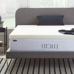 LUCID 3 Inch Ventilated Memory Foam Mattress Topper 3-Year W