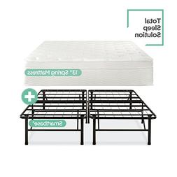 Night Therapy 13 Inch Euro Top Spring Mattress & Bed Frame S