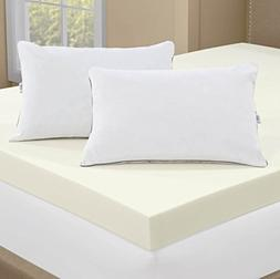 Serta 4-inch Memory Foam Mattress Topper with 2 Memory Foam