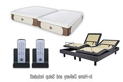 Adjustable Bed Sleep Systems with Gel Mattress Set