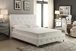 AC Pacific 8-Inch Memory Foam Mattress Covered in a Soft Alo