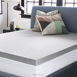LUCID 3 Inch Bamboo Charcoal Memory Foam Mattress Topper - Q