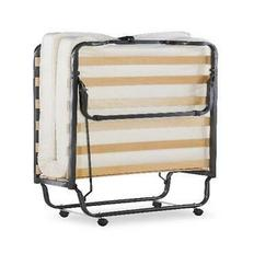 """Rollaway Cot-Size Bed with 4.5"""" Memory Foam Single Mattress"""