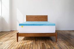 Revel 3-Inch Cool Swirl Gel Memory Foam Mattress Topper, Mad