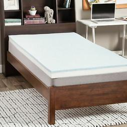 Select Luxury Dorm 3-inch Gel Memory Foam Flippable Mattress