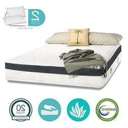 15 inch Aloe Vera Gel Memory Foam Mattress - Cool & Gel Infu