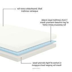 LINENSPA 5 Inch Gel Memory Foam Mattress - Firm Support - Qu