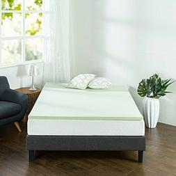 Zinus 1.5 Inch Green Tea Memory Foam Mattress Topper, Twin