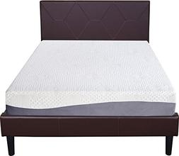 Olee Sleep 10 Inch Grey I Gel Layer Top Memory Foam Mattress