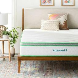 Linenspa 10 Inch Latex Hybrid Mattress - Supportive - Respon