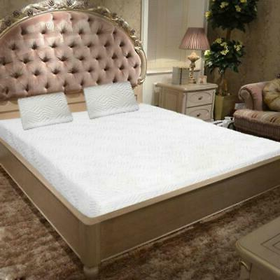 """10"""" Size Medium-Firm Memory Bed with 2 Pillows White"""