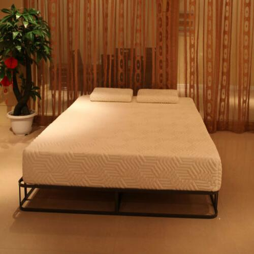 "10"" Queen Size Medium-Firm Memory Foam Bed White"