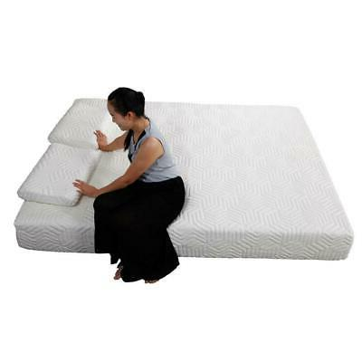 """10"""" Queen Cool Medium-Firm Memory Foam Bed with White"""