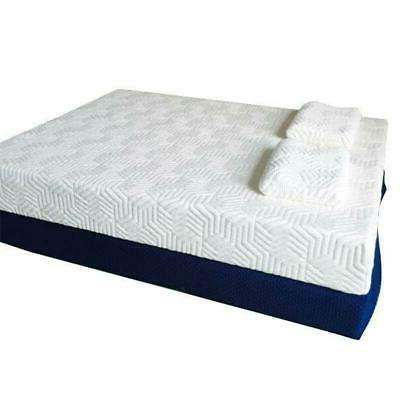 "10"" Queen Size Cool Medium-Firm Memory Foam Mattress Bed wit"