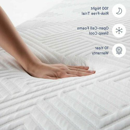 """LUCID 12"""" Memory Bed Triple-Layered Certified"""