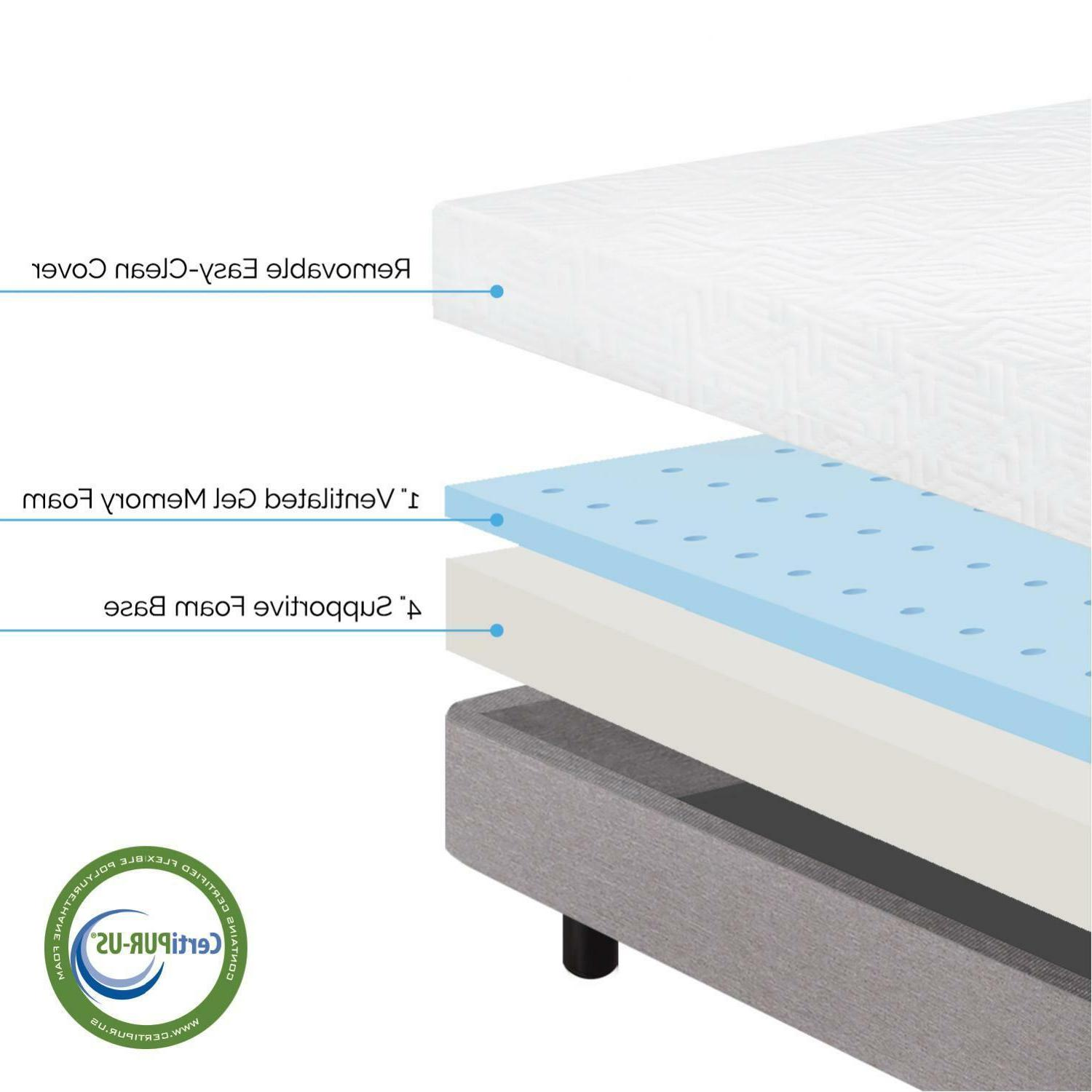 LUCID BED Foam Bed Twin Twin Full