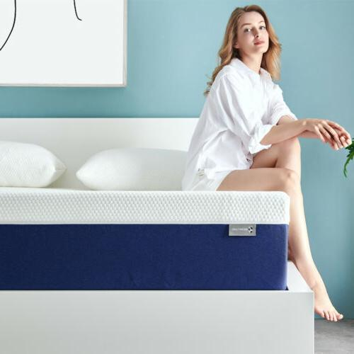 6 King Size Memory Foam Bed Mattress With More Pressure Reli