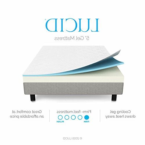 LUCID 5 Memory Dual-Layered Certified - Firm Feel - King Size