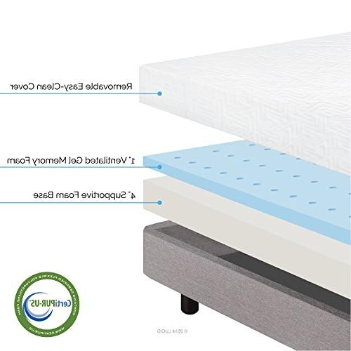 LUCID Memory Foam Dual-Layered CertiPUR-US - King Size