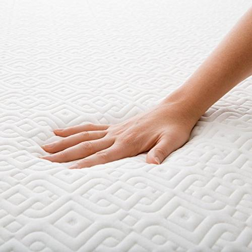 LUCID 5 Inch Memory Foam Dual-Layered CertiPUR-US King