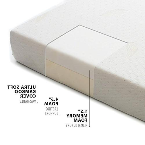 Milliard TWIN 6-Inch Foam Mattress Ultra Removable Cover with Twin