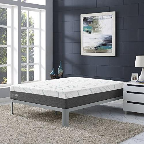 "Modway Elysse 12"" Cooling Hybrid Mattress - CertiPUR-US - Warranty"