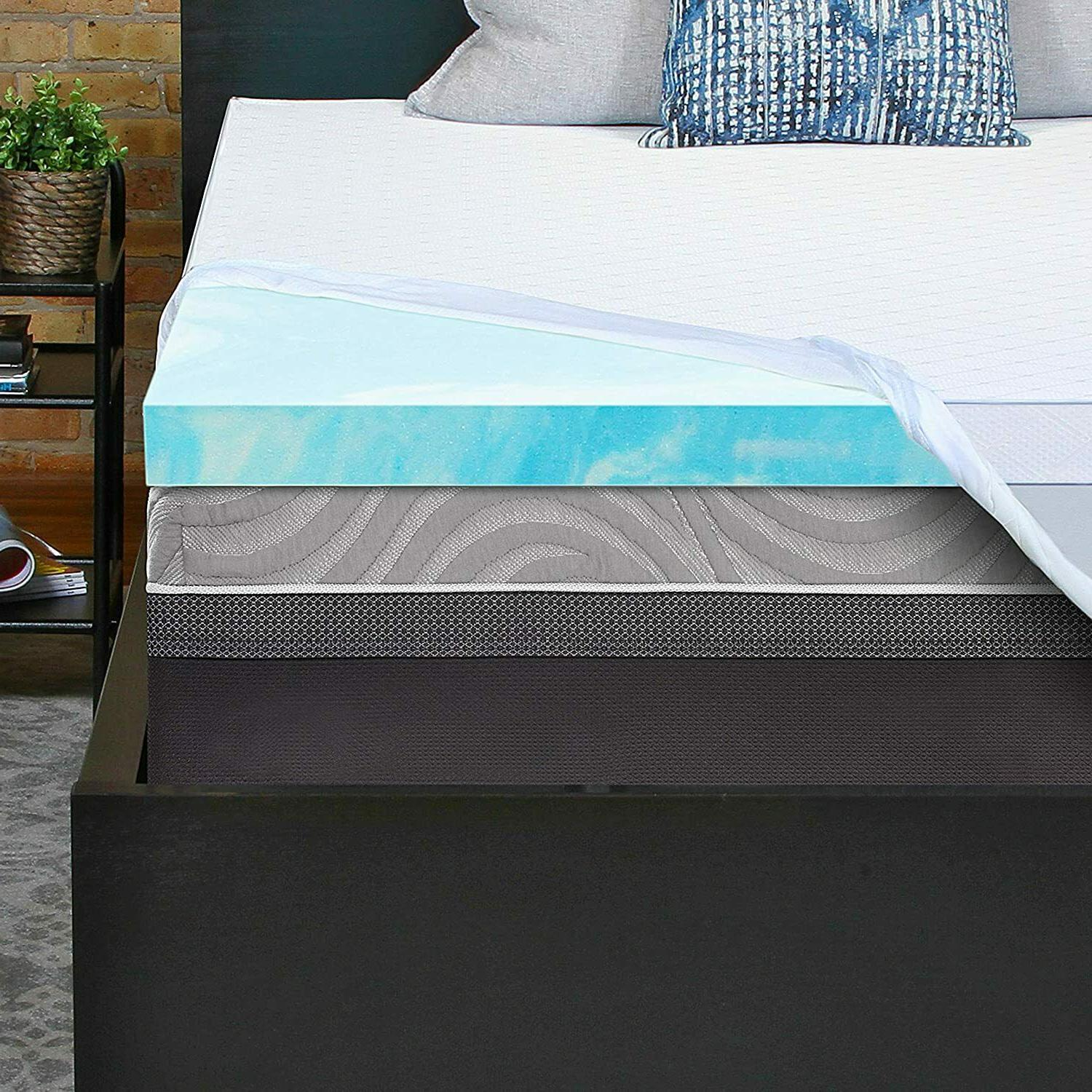 essentials 3 inch gel memory foam mattress
