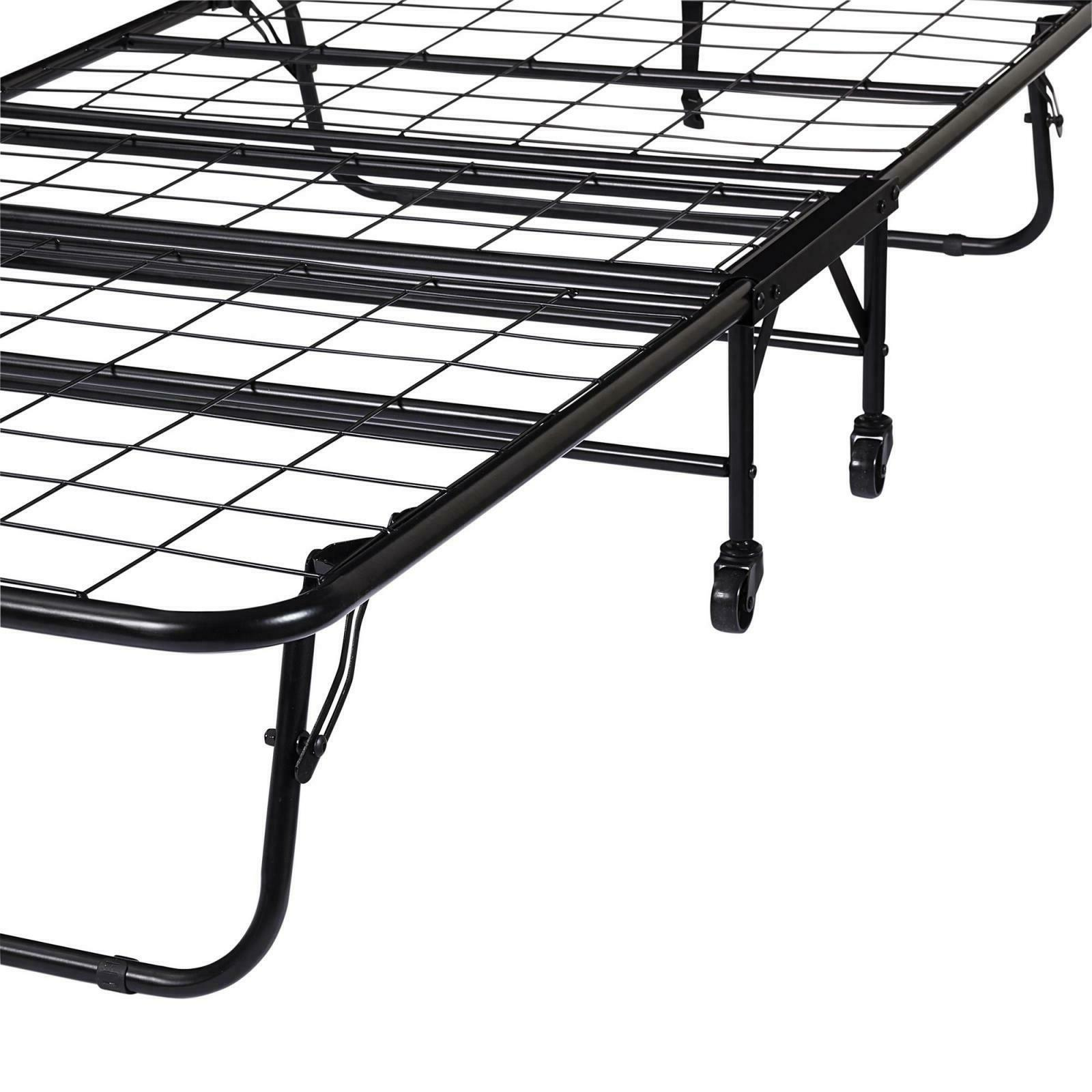 Folding Bed Frame with Memory Foam Mattress
