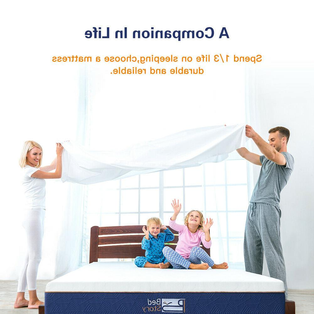 BedStory Gel Memory Foam Mattress CertiPUR-US FULL QUEEN KING CK New
