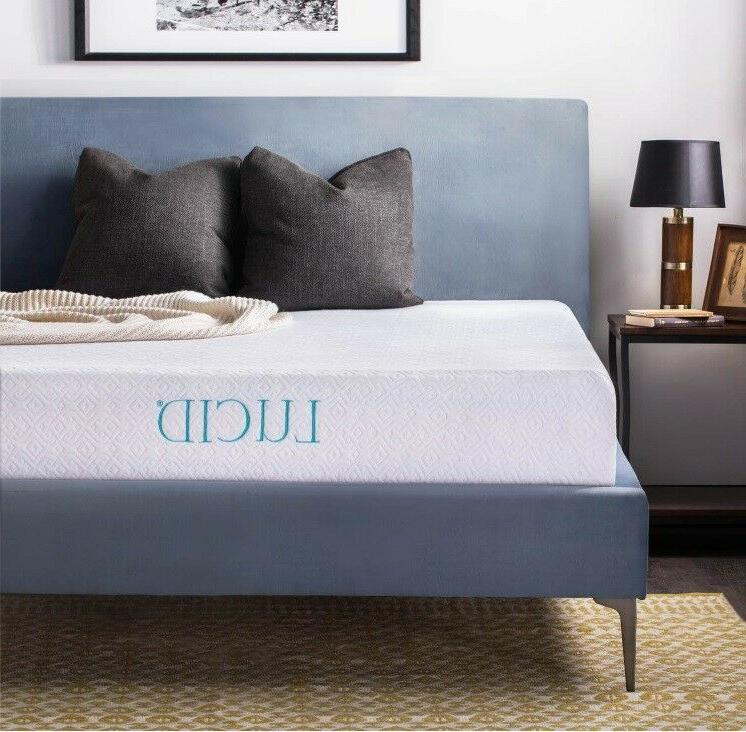 Mattress 10Inch Queen Size Dual Layered Gel Infused Memory F