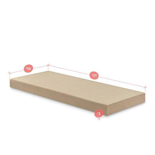 """Zinus 5 Inch Mattress, Narrow Twin / Size / RV Bunk / Bed Replacement x 75"""""""