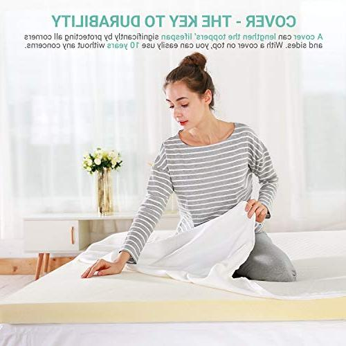 Recci Memory Foam Mattress Pressure-Relieving Bed Mattress Bamboo Viscose Removable & Washable,