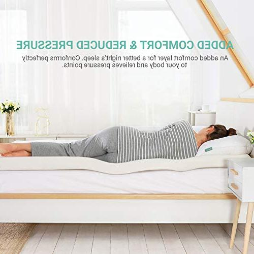 Recci Mattress Bed Foam Mattress Pad with Bamboo Removable & Washable,