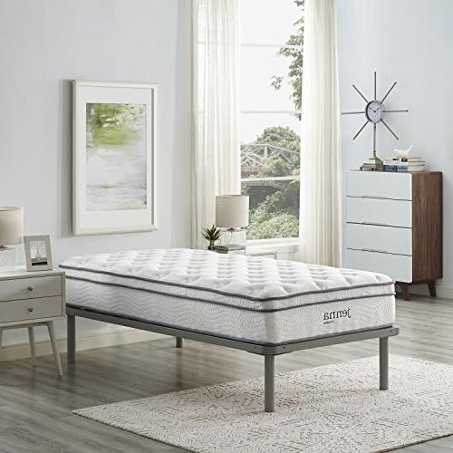 Modway Ultimate Pillow Top Innerspring Mattress - Encased 10-Year